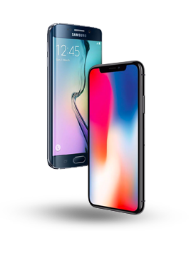 Samsung galaxy iPhone X